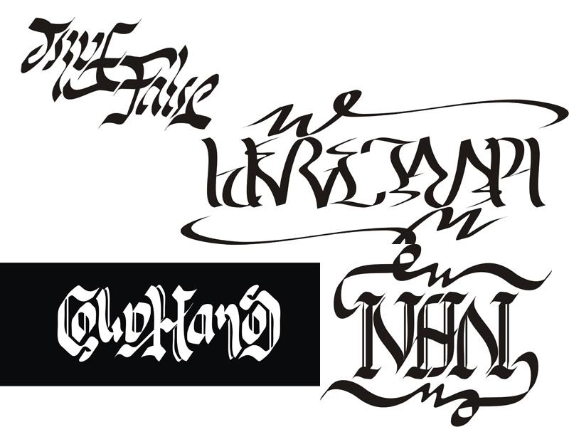 Ambigram Seni Kaligrafi Dua Arah Cold4hands